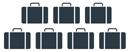 pictogramme véhicule 7 bagages chauffeurs privés